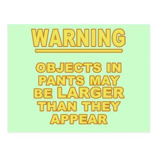 Objects In Pants Postcard
