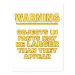 Objects In Pants Postcards