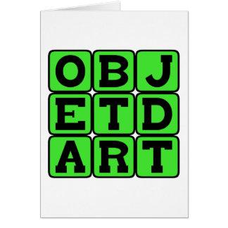 Objet d'Art, Art Object Greeting Card