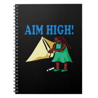 Objetivo alto cuaderno