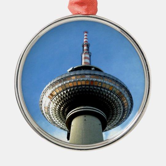 objetivo de la torre de Berlín Televison al cielo Adorno Navideño Redondo De Metal