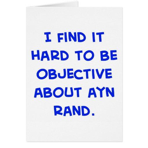 objetivo sobre Ayn Rand Tarjeta De Felicitación
