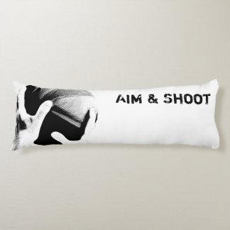 Objetivo y baloncesto de motivación del almohada de cuerpo entero