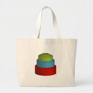 Objeto colorido 3d bolsa tela grande