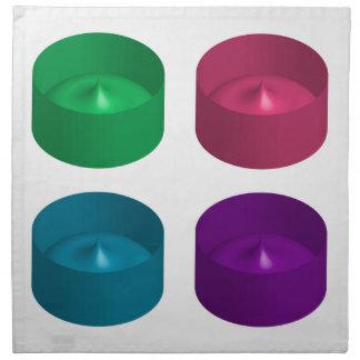 Objeto colorido 3d servilletas de papel
