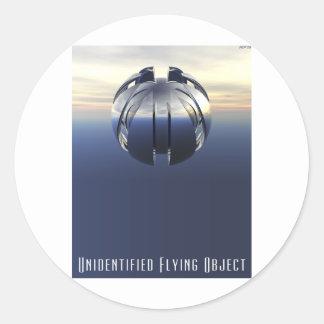 Objeto de vuelo no identificado pegatinas redondas
