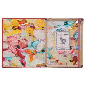 Objeto expuesto de la mariposa iPad carcasas