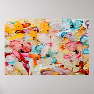 Objeto expuesto de la mariposa póster