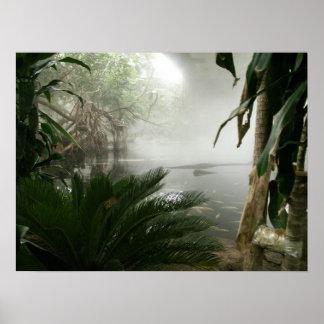Objeto expuesto de la selva tropical del parque zo posters