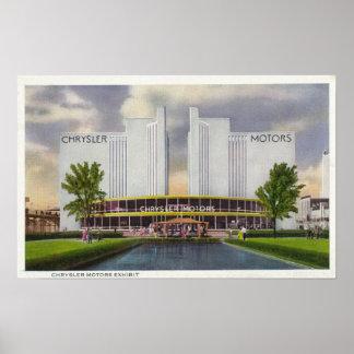 Objeto expuesto de los motores de Chrysler, la fer Posters