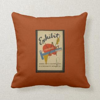 Objeto expuesto del arte almohada