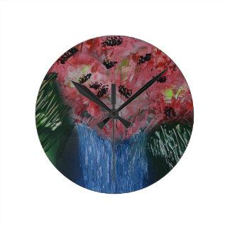 Objeto expuesto floral de la exposición reloj redondo mediano