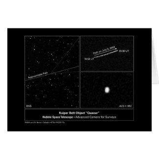 Objeto foto de la correa de Kuiper del telescopio Tarjeta De Felicitación
