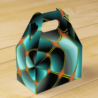 Objeto radial abstracto caja para regalos de fiestas