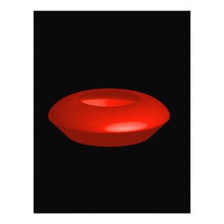 Objeto rendido rojo 3d plantilla de membrete