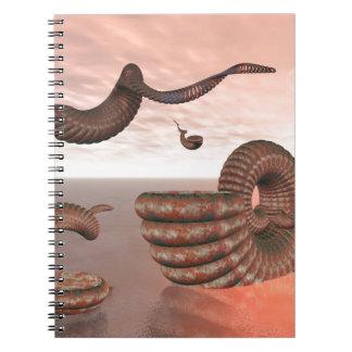 Objetos abstractos que vuelan libros de apuntes