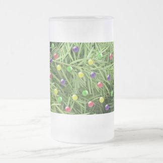 Objetos curiosos del navidad taza de cristal