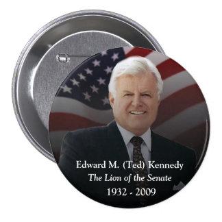 Objetos de recuerdo de Edward (Ted) Kennedy Pin Redondo De 3 Pulgadas