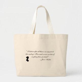 Objetos de recuerdo de Jane Austen Bolsa Tela Grande