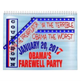Objetos de recuerdo de la elección de Anti-Obama Calendarios De Pared