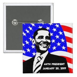 Objetos de recuerdo de la inauguración 2009 de Oba Pins