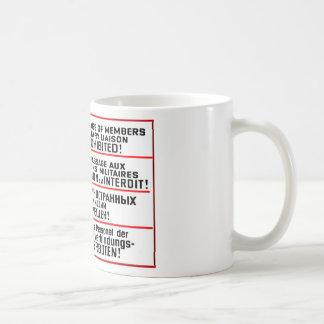 Objetos de recuerdo de la muestra de la misión taza