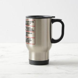 Objetos de recuerdo de la muestra de la misión taza de café