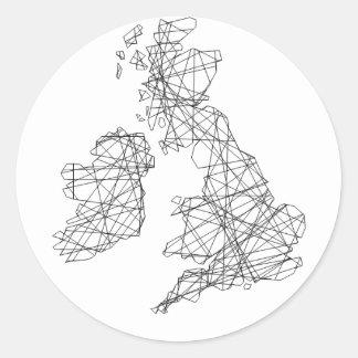 Objetos de recuerdo de las islas británicas - pegatina redonda