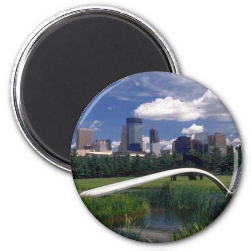 Objetos de recuerdo de Minneapolis Imán Redondo 5 Cm