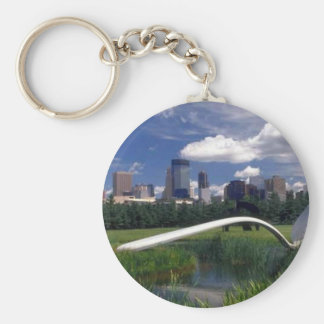Objetos de recuerdo de Minneapolis Llavero Redondo Tipo Pin