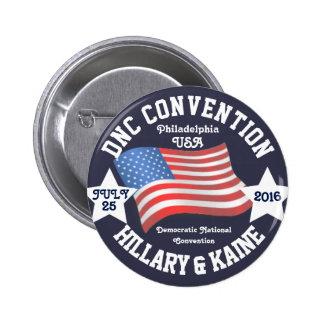 Objetos de recuerdo del convenio de DNC Pin Redondo De 2 Pulgadas
