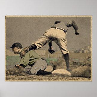 Objetos de recuerdo del poster del béisbol