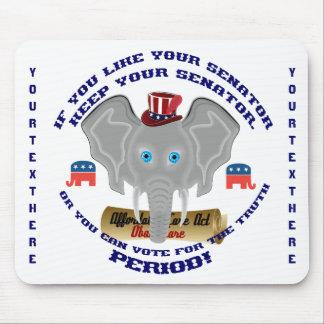 Objetos de recuerdo del republicano de la política tapete de raton