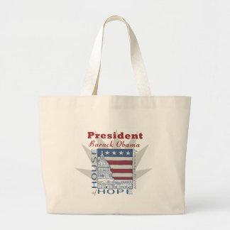 Objetos de recuerdo inaugurales de Obama Bolsa Tela Grande