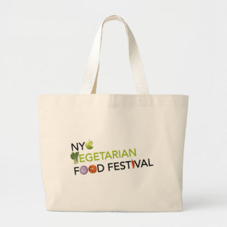 Objetos de recuerdo vegetarianos del logotipo del  bolsa tela grande