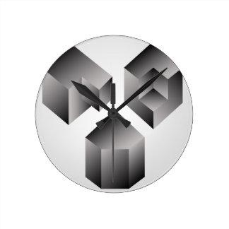 Objetos isométricos reloj redondo mediano