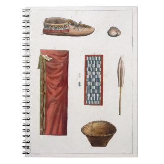Objetos que pertenecen a los indios canadienses (c cuaderno