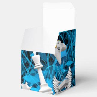 Objetos que vuelan en contexto abstracto caja para regalo de boda