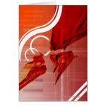 Objetos rojos con las líneas blancas tarjeta