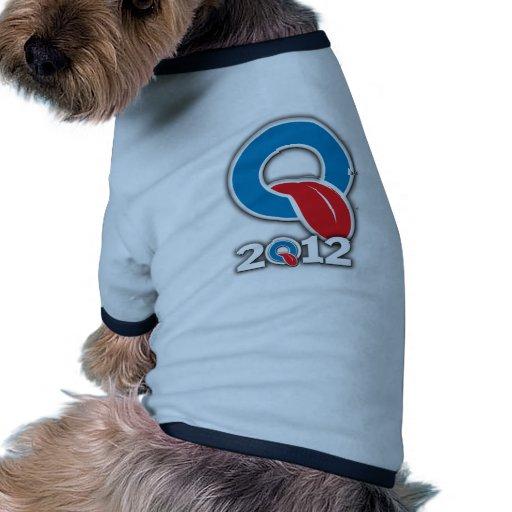 Oblahma 2012 camiseta con mangas para perro