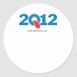 Oblahma 2012 pegatinas redondas