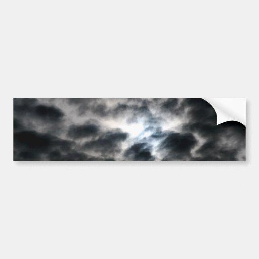 Oblaka divino - nubes pegatina de parachoque