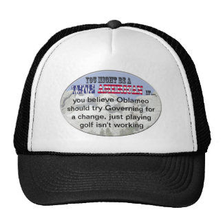 oblameo golf playing trucker hat
