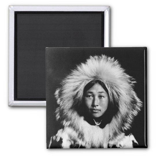 Obleka, an Eskimo woman, 1907 2 Inch Square Magnet