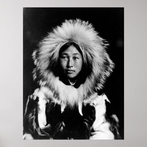 Obleka, an Eskimo Woman: 1907 Print