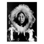 Obleka, mujer esquimal, 1907 tarjetas postales