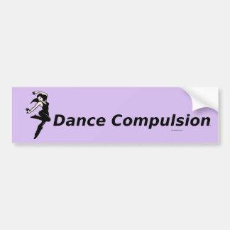 Obligación SUPERIOR de la danza Etiqueta De Parachoque
