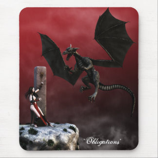 Obligations Gothic Fantasy Art Mousepad