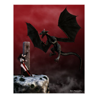 Obligations Gothic Fantasy Art Poster