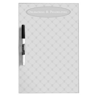 Obligations & Possibilities Dry-Erase Board